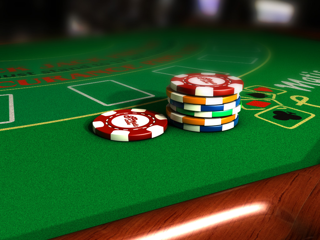 & Poker Table of 10 players